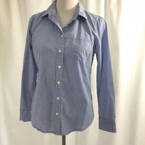 J. Crew Perfect Shirt Chambray Soft Button Fown 6